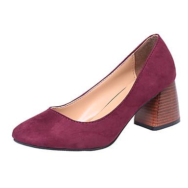 בגדי ריקוד נשים נעליים PU אביב נוחות נעליים ללא שרוכים שטוח בוהן עגולה פפיון שחור / אדום / חאקי