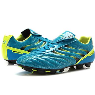 יוניסקס נעלי כדורגל / סוליות כדורגל פוליאוריטן תרמופלסטי TPU / פוליאוריתן PU כדורגל לביש, נשימה, רכות עור PVC כחול + צהוב