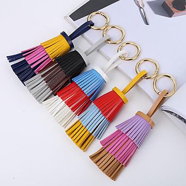 אופנה מצדדים במחזיק מפתחות עור PU מזכרות מחזיקי מפתחות - 1