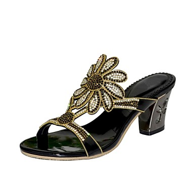 Sandales Paillette Printemps Brillante Strass Talon Mode Chaussures 06600828 Eté ouvert Bout la Bottes Polyuréthane Femme à Bottier Cristal 8RqZFww