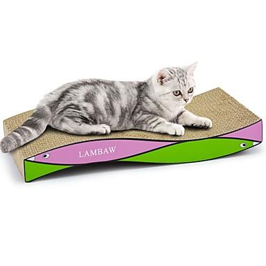 משטח גירוד צבעוני משטח גירוד מסייע בהפחתת  משקל נפית החתולים נייר קרטון עבור חתול חתלתול