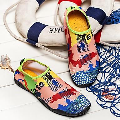 Unisex Komfortowe buty Tiul / Siateczka Wiosna / Lato Mokasyny i buty wsuwane Turystyka górska / Obuwie rowerowe / Spacery Tęcza / Niebieski / Różowy