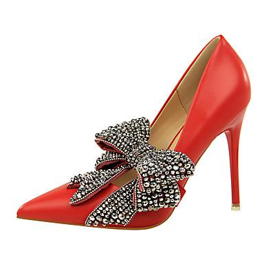 Mujer Zapatos Cuero de Napa Verano Confort Tacones Tacón Stiletto Punta cerrada Negro Sortie D'usine Rabais U0zTdF1ZNx