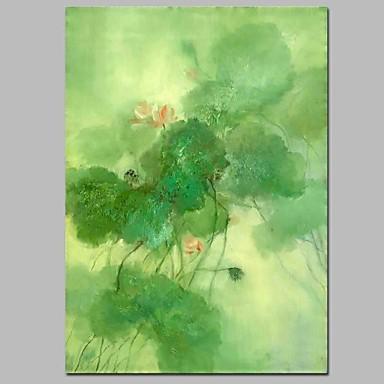 Hang-Malowane obraz olejny Ręcznie malowane - Krajobraz Nowoczesny Brezentowy / Rozciągnięte płótno