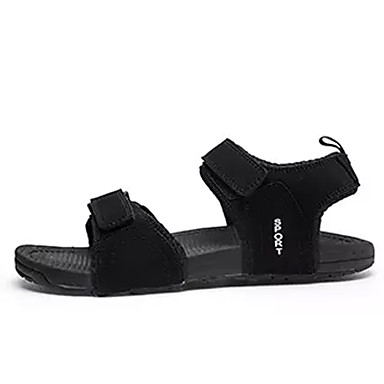 Męskie Komfortowe buty PU Lato Sandały Czarny / Szary