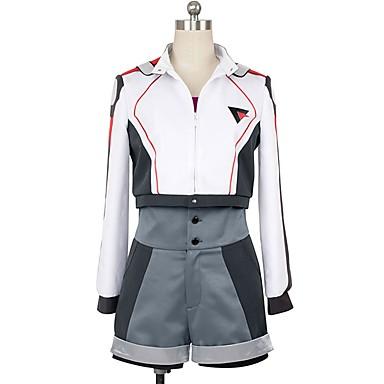 Zainspirowany przez Macross Frontier Cosplay Anime Kostiumy cosplay Garnitury cosplay Inne Długi rękaw Płaszcz / Top / Spodnie Na Męskie / Damskie Kostiumy na Halloween