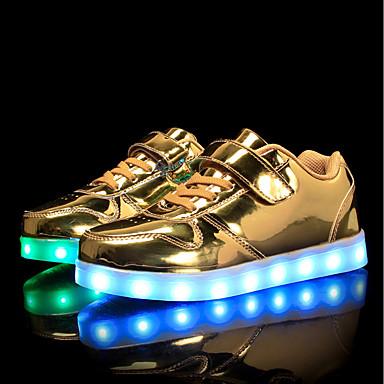 povoljno Cipele za dečke-Dječaci / Djevojčice PU Sneakers Mala djeca (4-7s) / Velika djeca (7 godina +) Udobne cipele / Svjetleće tenisice Hodanje Vezanje / Kopčanje na kukicu / LED Pink / Plava / Pink Proljeće / Jesen