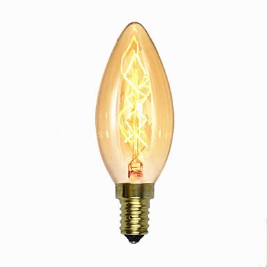 1pç 40W E14 C35 2300 K Incandescente Vintage Edison Light Bulb AC 220V AC 220-240V V