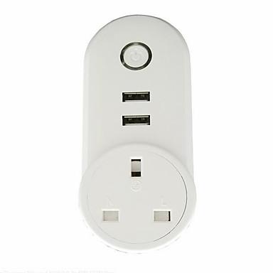 1pack חכם Plug ABS מחשב התוספת קול שליטה WiFi מופעל לשלוט מתקן שלך מכל מכשיר תואם בכל מקום עם תזמון יציאות USB