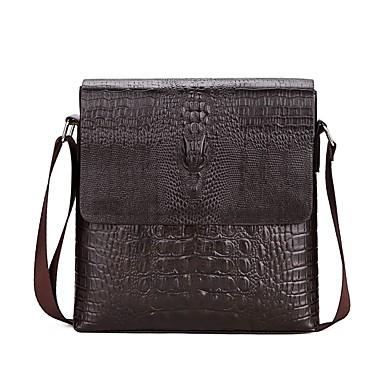 a90e8e07b9 Men s Bags PU(Polyurethane) Shoulder Bag Zipper Crocodile Black   Brown