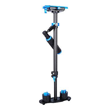 yelangu populær 60cm carbon fiber kamera stabilisator s60t med blå farge støtte DSLR universelle kameraer