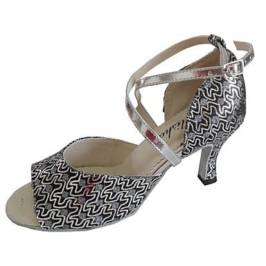Kadın's Latin Dans Ayakkabıları / Salsa Ayakkabıları / Standart Ayakkabılar Işıltılı Simler Sandaletler Kişiye Özel Kişiselleştirilmiş