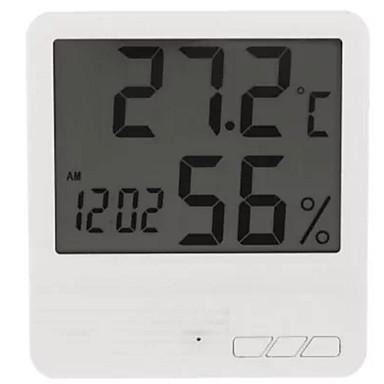 inteligentny termometr temperatura wewnętrzna, wilgotność, ekran LCD o niskim poborze mocy, inteligentny dom łatwy w użyciu 1szt