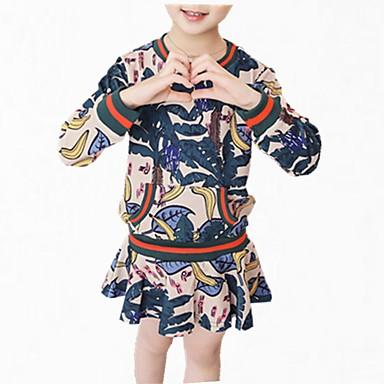 שמלה כותנה פוליאסטר אביב סתיו שרוול ארוך יומי פרחוני הילדה של פשוט חמוד פול