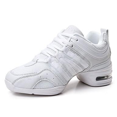 Damskie Adidasy do tańca Płótno / Tiul Adidasy Łączenie Niski obcas Personlaizowane Buty do tańca Biały