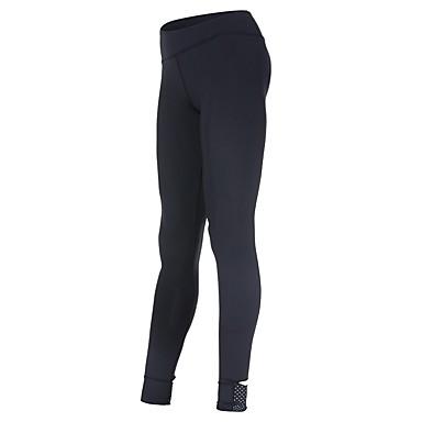 בגדי ריקוד נשים טייץ לריצה - שחור ספורט אחיד טייץ רכיבה על אופניים / חותלות יוגה, כושר וספורט, חדר כושר לבוש אקטיבי ייבוש מהיר