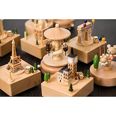 התאמה אישית עץ Music Box כלה שושבינה חברים תינוק וילדים יום הולדת לבוש יומיומי