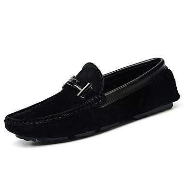 בגדי ריקוד גברים PU אביב / סתיו נוחות נעליים ללא שרוכים אפור / חום / חאקי