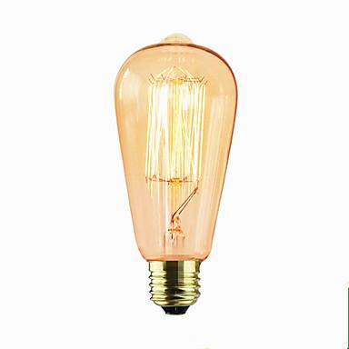 1pc 40W E26/E27 ST64 2300 K Glødende Vintage Edison lyspære AC 220V AC 220-240V V