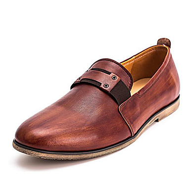 Męskie Komfortowe buty Skóra nappa / Skóra bydlęca Wiosna / Jesień Mokasyny i buty wsuwane Brązowy