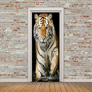Naklejki na drzwi - Naklejki ścienne lotnicze / Naklejki ścienne 3D Zwierzęta / 3D Jadalnia / Gabinet / Pokój do nauki / Możliwość zmiany miejsca