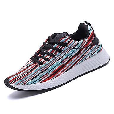 בגדי ריקוד גברים טול אביב / סתיו נוחות נעלי אתלטיקה ריצה שחור / אדום / כחול בהיר