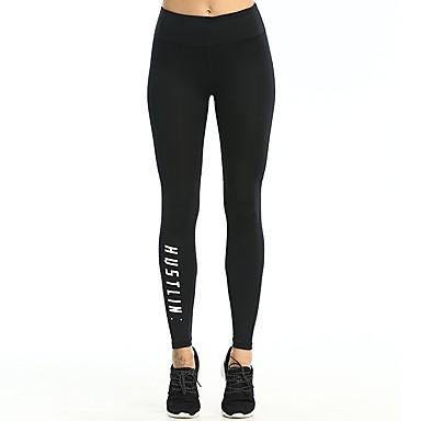 בגדי ריקוד נשים טייץ לריצה - שחור ספורט מכנסיים / חותלות לבוש אקטיבי ייבוש מהיר, באט הרם סטרצ'י (נמתח)