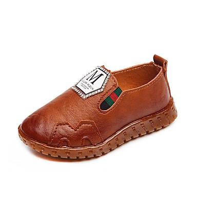 בנים נעליים עור / PU אביב קיץ נוחות / סוליות מוארות שטוחות ל שחור / צהוב / ירוק