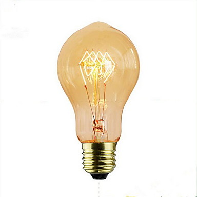 1pç 60 W E26 / E27 A60(A19) Branco Quente 2300 k Retro / Decorativa Incandescente Vintage Edison Light Bulb 220-240 V