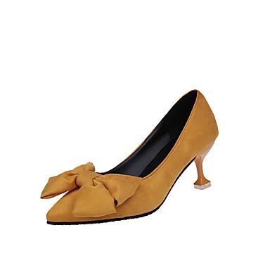 Mujer PU Otoño / Invierno Confort / botas slouch Tacones Tacón Bajo Dedo redondo Con Cordón Negro / Naranja / Rosa