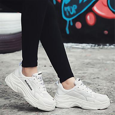 Chaussures Eté Blanc Tulle Talon 06633209 Femme Basket Confort Printemps Plat 7qggwZd