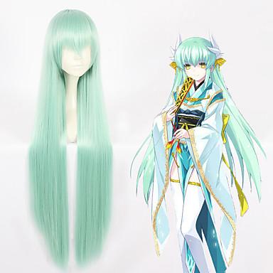 Destino / Grand Order Kiyohime Todo 40 pulgada Fibra resistente al calor Verde Animé Pelucas de Cosplay
