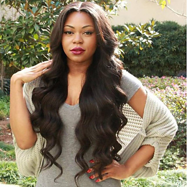 cheap Human Hair Wigs-Virgin Human Hair Full Lace Wig Layered Haircut style Indian Hair Wavy Body Wave Black Wig 130% Density with Baby Hair Natural Hairline Black Women's Short Medium Length Long Human Hair Lace Wig Aili