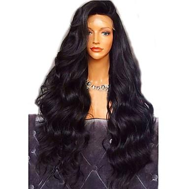 10886cb59 Virgin Human Hair Full Lace Wig Layered Haircut style Brazilian Hair Wavy  Body Wave Black Wig 180% Density with Baby Hair For Black Women Black  Women's ...