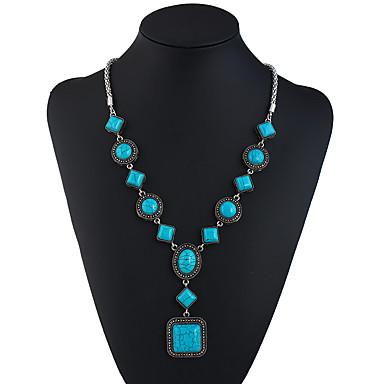9d16071e2ed0 Turquesa Collar Y collar largo damas Étnico Moda Turquesa 69.8+5.5 cm Gargantillas  Joyas Para Festivos Noche