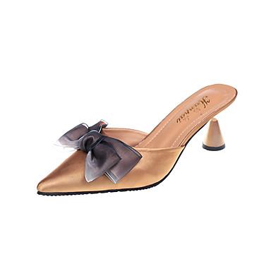 à Marche Cône pointu Chaussures Arrière Polyuréthane Confort Eté Bride 06642401 Bout Femme Talons A Chaussures Automne Talon Tissu Bout n6zwva7