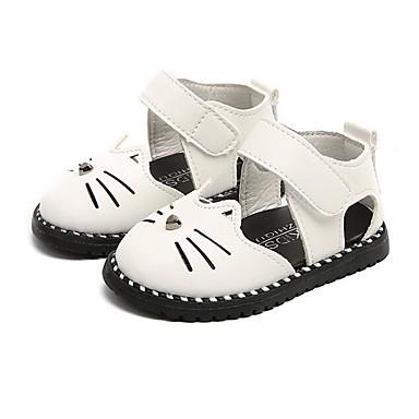 Dla dziewczynek Obuwie Derma Lato Wygoda / Buty do nauki chodzenia Sandały na Biały / Czarny / Różowy