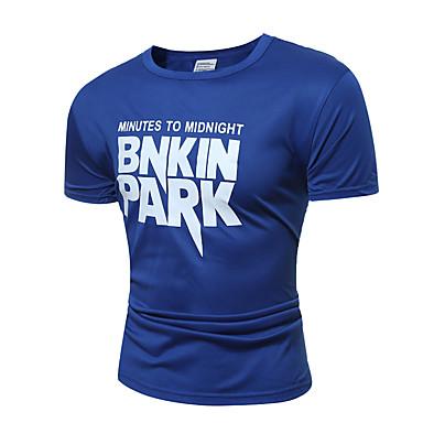 Hombre Estampado Camiseta Gráfico / Letra