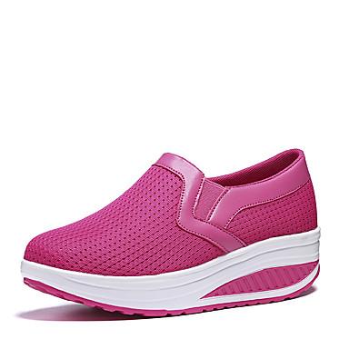 Damen Schuhe Stoff Sommer Loafers & Slip-Ons Walking Flacher Absatz für Normal Schwarz Purpur Fuchsia