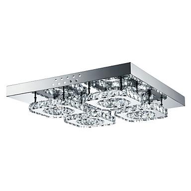 4-Light Flush Mount Ambient Light อื่นๆ โลหะ คริสตัล, LED 85-265โวลต์ ขาว รวมแหล่งกำเนิดไฟ LED / แบบมี LED