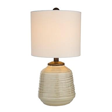 Prosty Ochrona oczu Lampa stołowa Na Ceramiczny 110-120V / 220-240V Biały