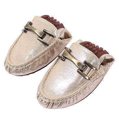 Bout fermé Femme Or Eté Chaussons 06642253 Printemps Plat Moccasin Chaussures et Talon rond D6148 Mocassins Bout Microfibre Confort Noir HqHZa6