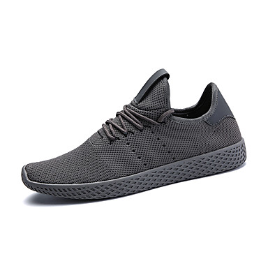 Men's Shoes Mesh / PU(Polyurethane) Spring / Fall Comfort / Light Soles Athletic Shoes Running Shoes Gray / Green / White / White