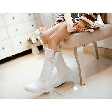 Noir Polyuréthane Chaussures Bottes neige Bottes de Plat Blanc Hiver Rouge 06637247 Bottes Talon Femme BTPqCxwx
