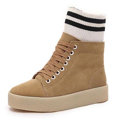 Cuir Beige Bottes Talon Hiver Véronèse Chaussures Plat Vert Noir Femme Confort 06640293 4qZw5WWA