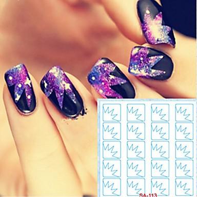 5 pcs Naljepnice sa šupljim noktima Kreativan nail art Manikura Pedikura Kreativan pomodan / Moda Dnevno