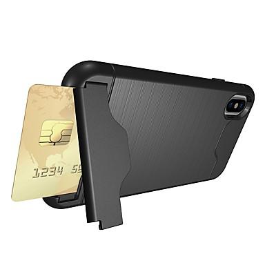 Etui Til Apple iPhone X / iPhone 8 Kortholder / Stødsikker / Med stativ Bagcover Rustning Blødt TPU for iPhone X / iPhone 8 Plus / iPhone 8