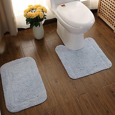 1 zestaw Nowoczesny Dywany łazienkowe Bamboo, bawełnie Kreatywne Kwadrat Antypoślizgowy