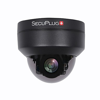 99477bf9c2a Black 1080P PTZ Outdoor POE Security IP Dome Camera with 3X Optical Zoom Pan  Tilt