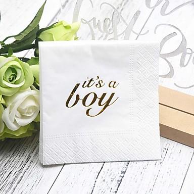 billige Bryllupsservietter-Rent papir Bryllup Servietter - 5pcs Aftensmat Servietter Bursdag Klassisk Tema